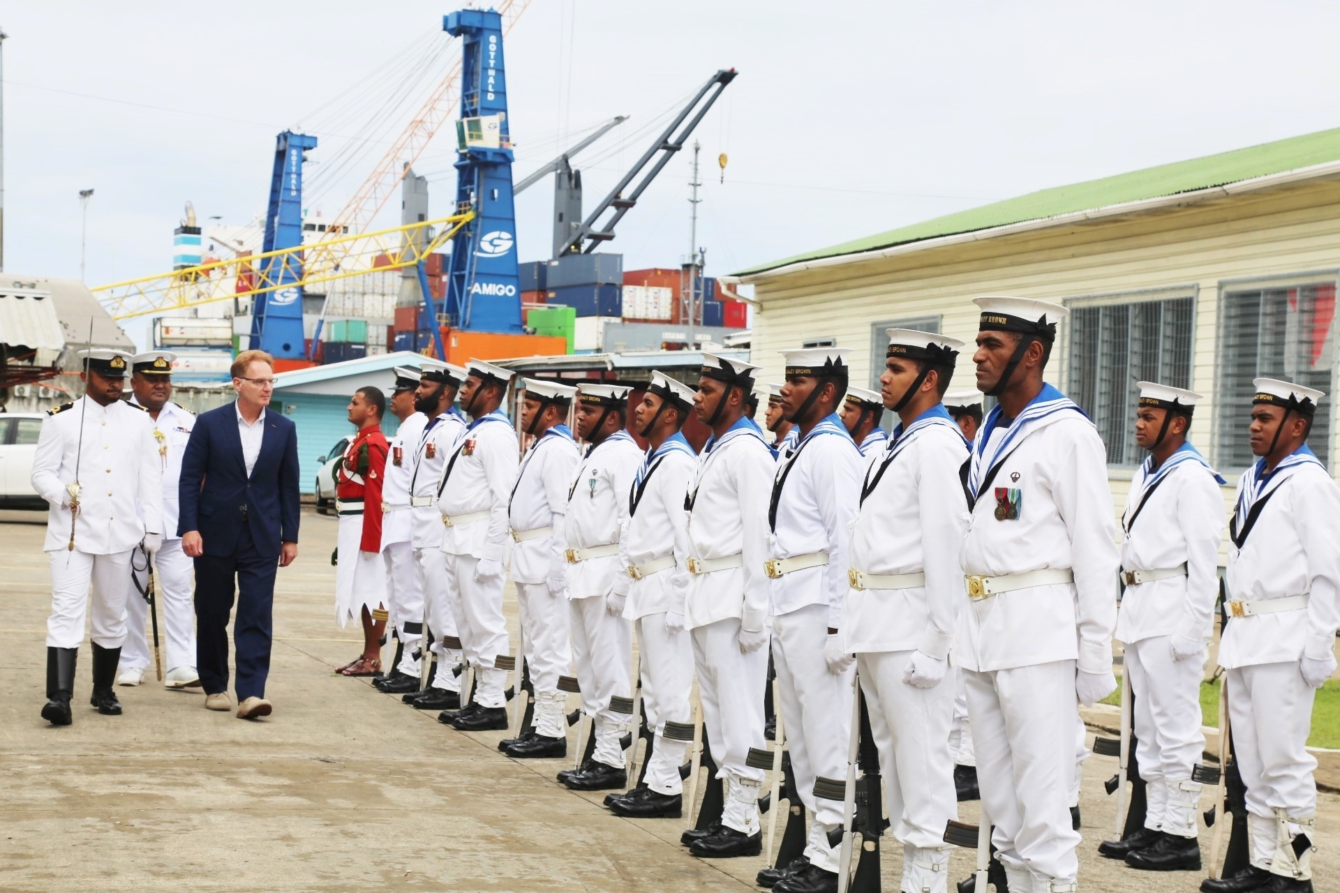 U S Under Secretary Of The Navy Thomas Modly Visit To Fiji